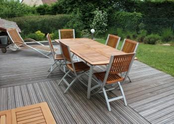 lynium amenagement exterieur terrasse bois metz With idee d amenagement exterieur 9 mobilier sur mesure lynium metz
