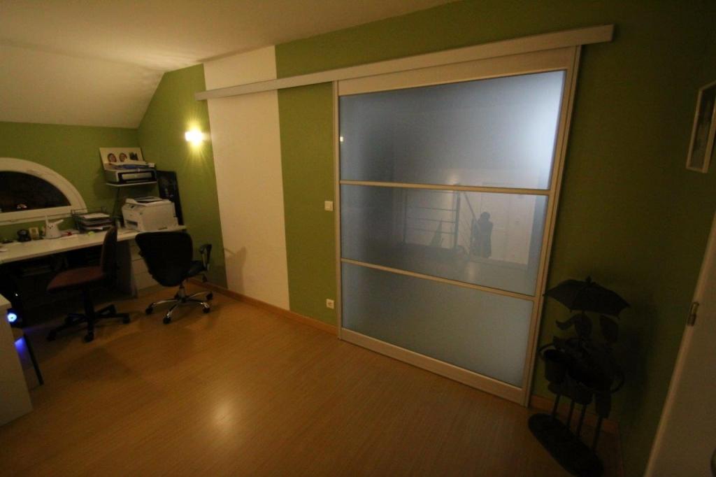 Mobilier sur mesure lynium metz portes interieures - Porte coulissante en verre depoli ...